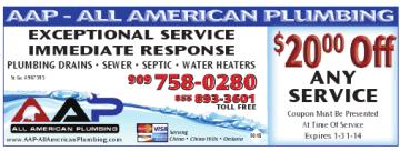 Upland Plumbing Coupon - AAP All American Plumbing