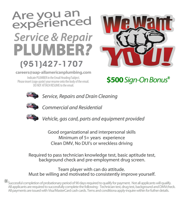 AAP-All American Plumbing Careers Employment Opportunities