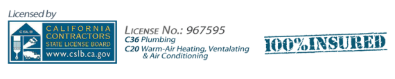 AAP-All American Plumbing Licensed and Insured C-36 and C-20  No. 967595