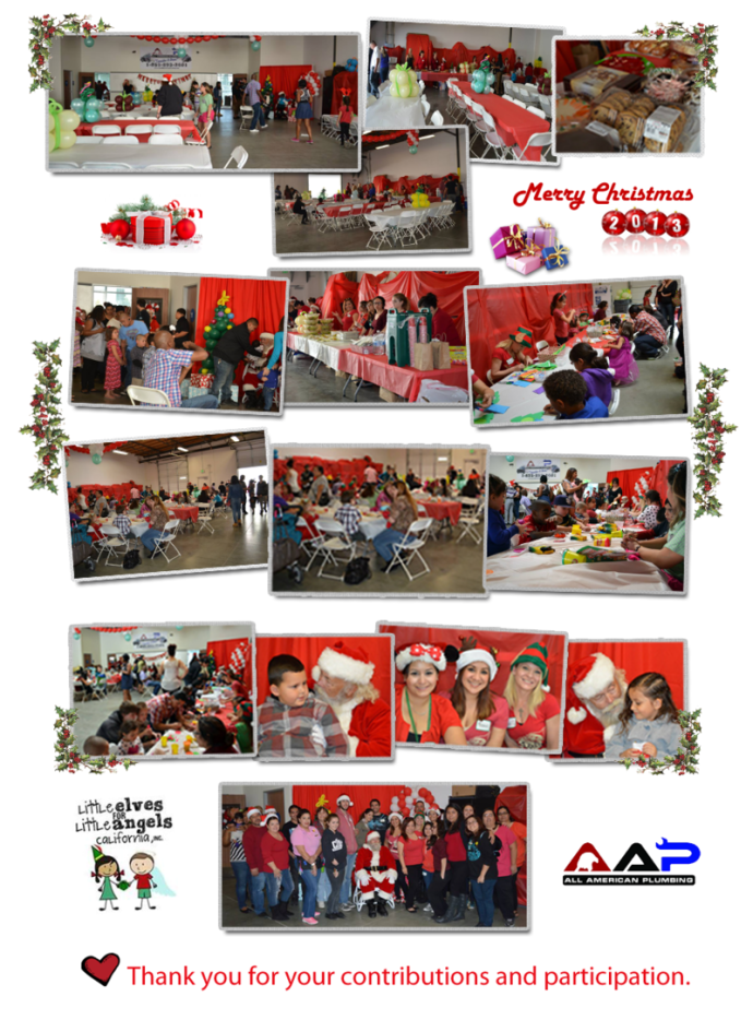 AAP-All American Plumbing_Christmas 2013- Little Elves for Little Angels